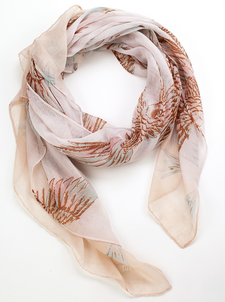 Tropical Parrot Scarf beige