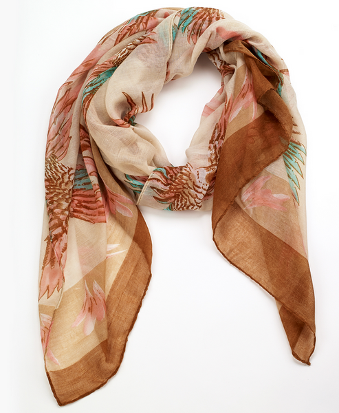 Tropical Parrot Scarf br