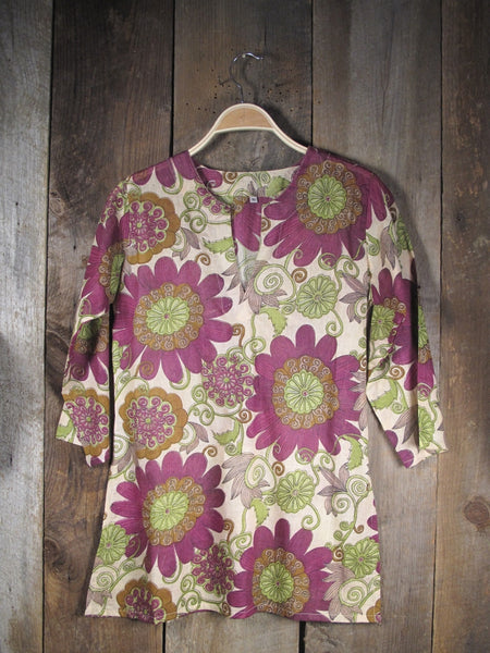 Tunic Burgundy Flower