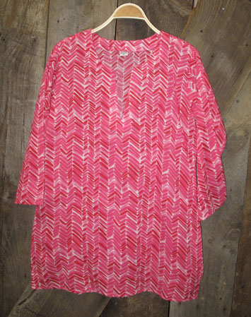 Tunic - Modern Print in Red