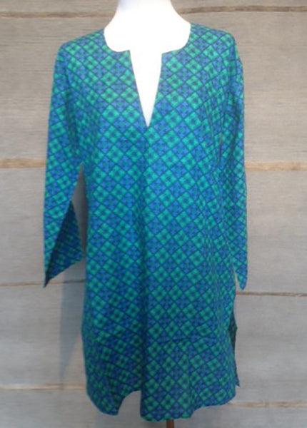 Tunic Turquoise Diamonds