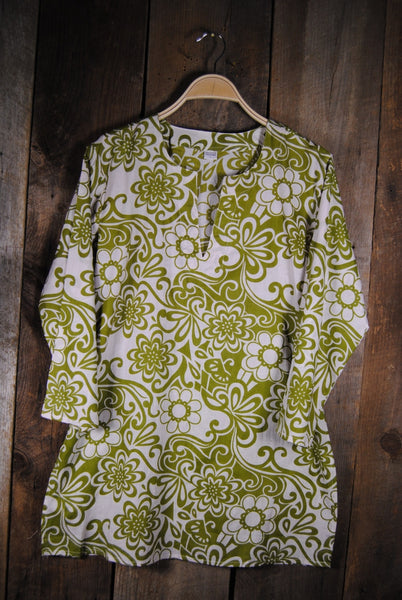 Tunic in Avocado Floral