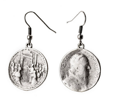 Religious Inspired Turkish Coin Earrings