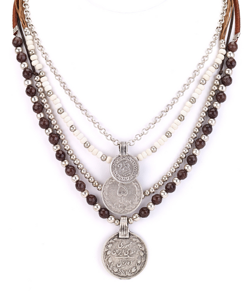 Turkish Coins Layered Short Necklace