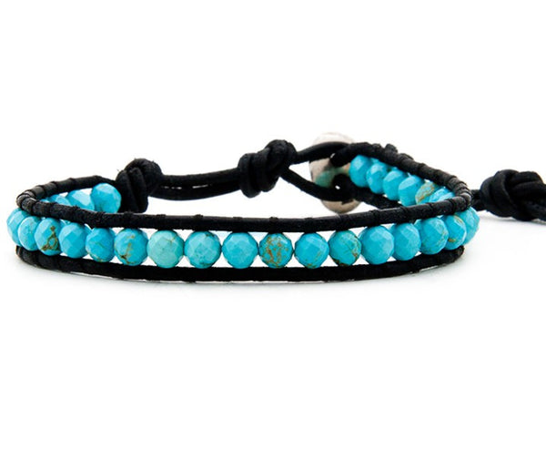 bracelet - Turquoise Single Wrap Bracelet - Girl Intuitive - China -