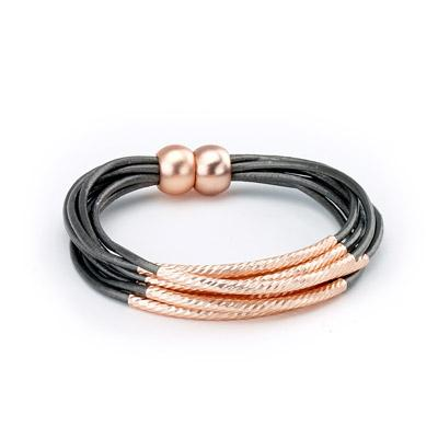 Twisted Tube Leather Bracelet