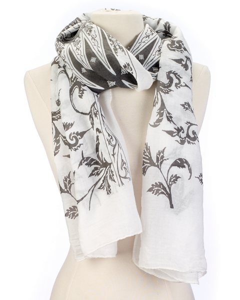 Vine On A Scarf gray