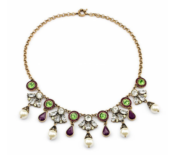 Vintage Bling Statement Necklace