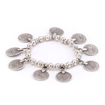 Vintage Turkish Coins Stretch Bracelet