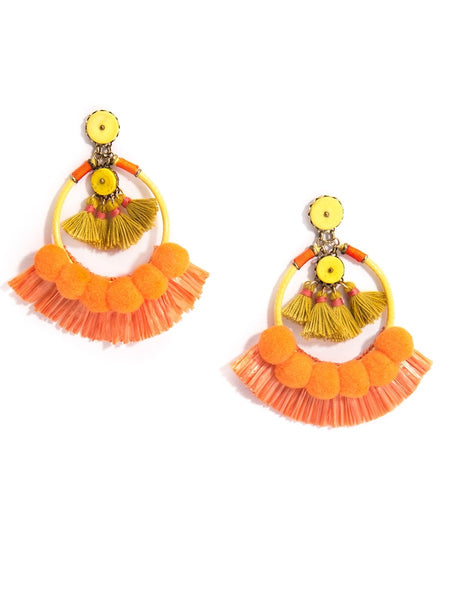 Wild Fringe Statement Earrings
