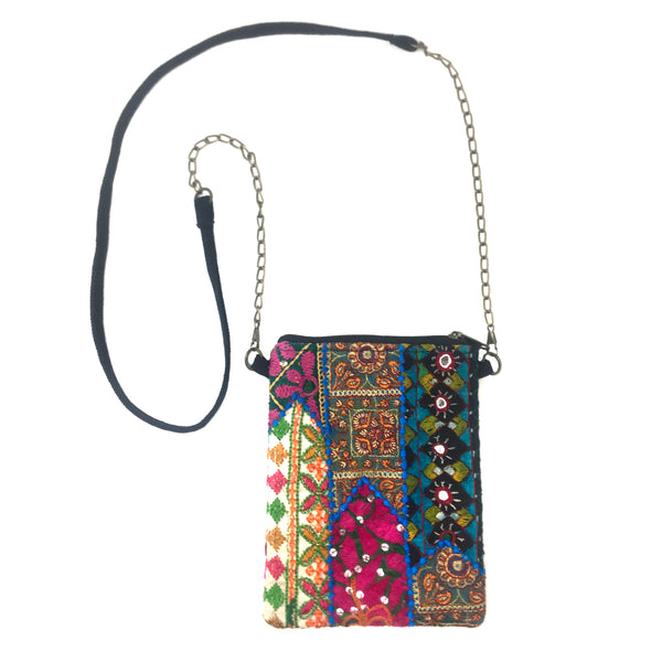 WorldFinds Tribal Mosaic Crossbody Bag