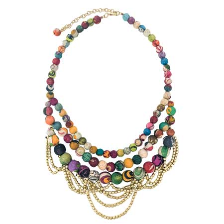 Worldfinds Tangled Kantha Necklace