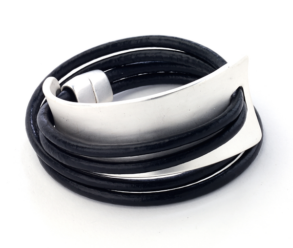Wrap Bracelet with Cuff black