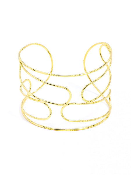Abstraction Cuff Bracelet gold