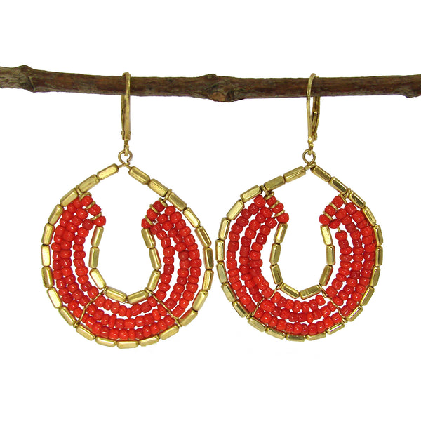 Byzantine Earrings Tangerine