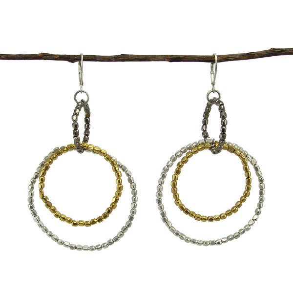 Metallic Trio Hoops