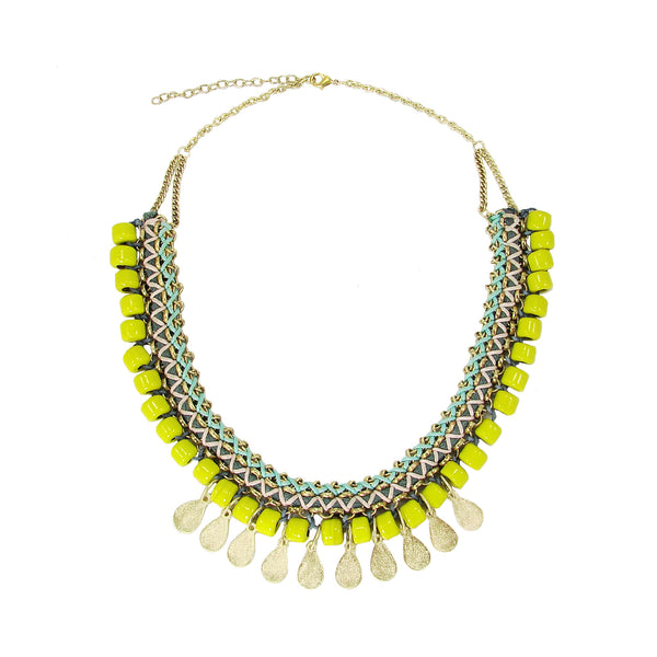 Yellow Glass Beads necklace