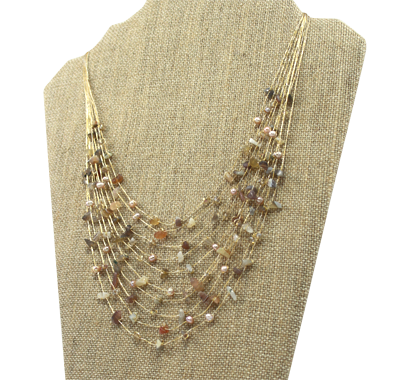 Akha Necklace - Tan - Girl Intuitive