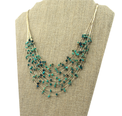 Akha Necklace - Turquoise - Girl Intuitive