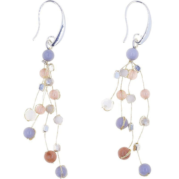 Akha Floating Earrings in Warmth Pearl