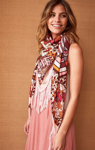 Amenapih Wax Blush Scarf