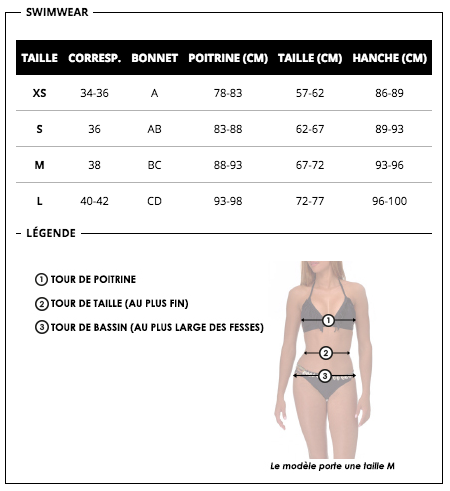 Amenapih swimwear chart