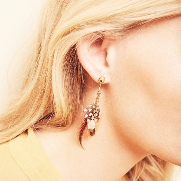 Hipanema Anita Ocre Earrings ears