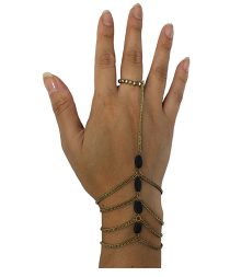 Bead and Chain Hand Chain - Girl Intuitive