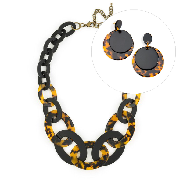 Black and Tortoise Jewelry Gift Set