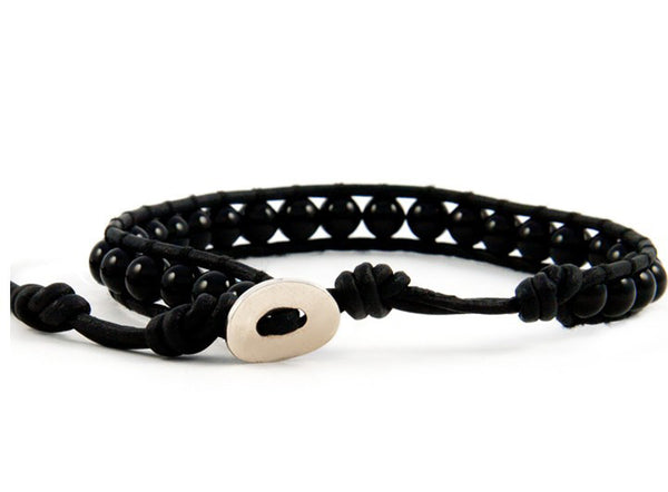 Black Single Row Bracelet - Girl Intuitive
