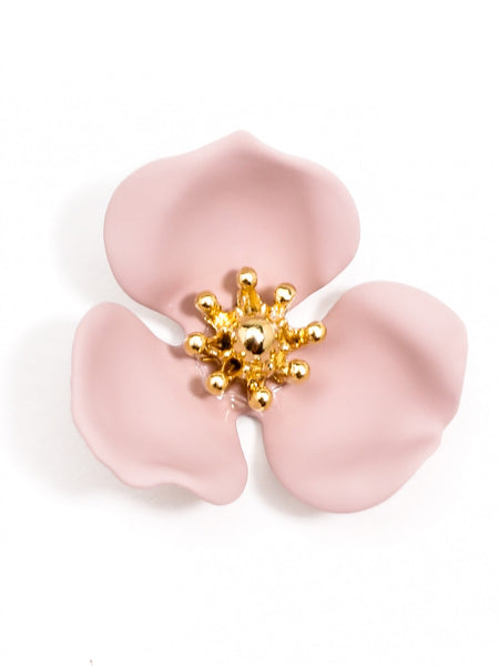 Blooming Lotus Stud Earrings rose