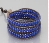 Blue Wrap Bracelet - Girl Intuitive