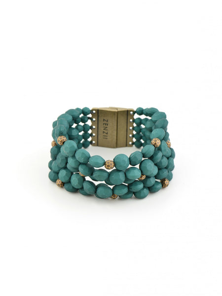 Bold Beaded Bracelet green