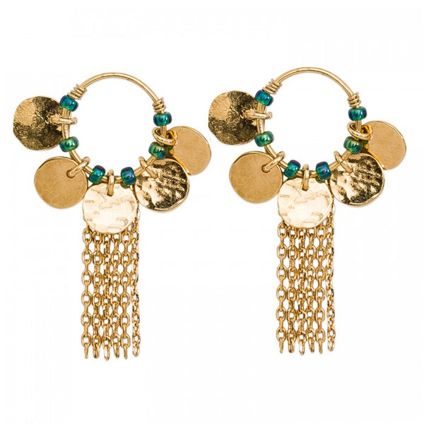 Hipanema Bakal Gold Earrings