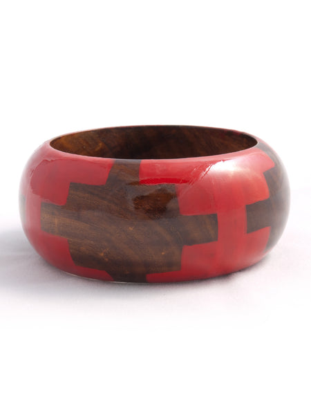 red wood bangle bracelet