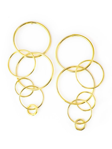 Bubble Links Duster Earrings