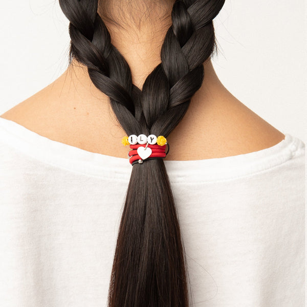 ILY Elastic Hair Tie and Bracelet By Lilla pony tail