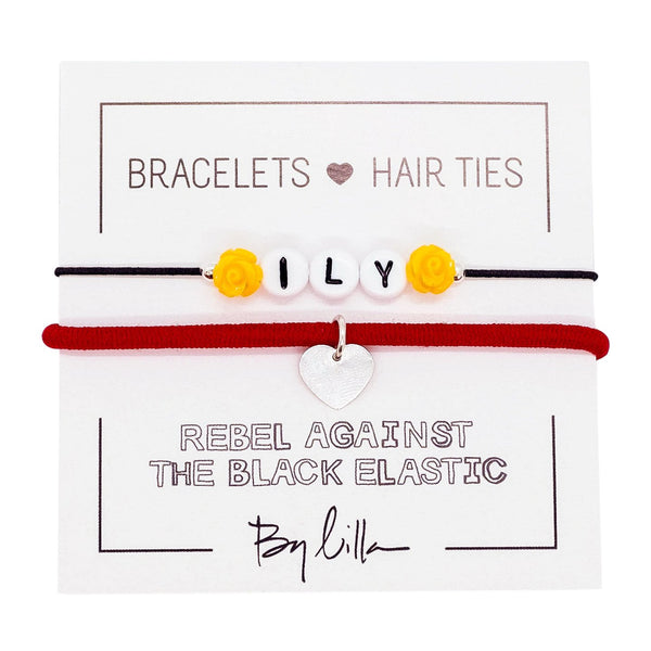 ILY Elastic Hair Tie and Bracelet By Lilla