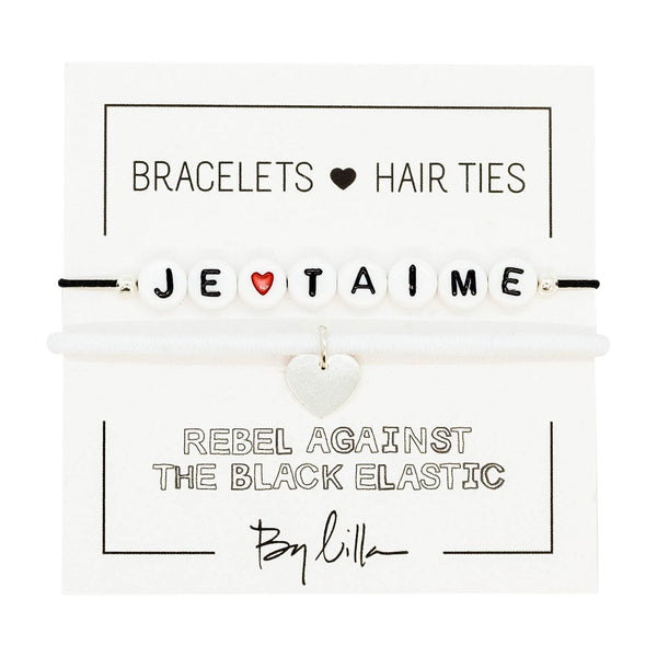 Je T'aime Elastic Hair Tie and Bracelet By Lilla