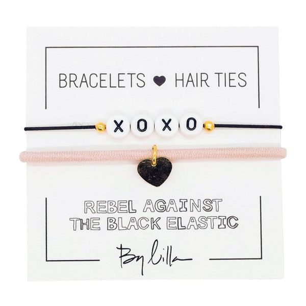 XOXO Elastic Hair Tie and Bracelet By Lilla