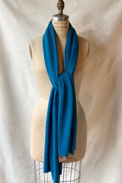 Scarves - Cashmere Travel Solid Scarf - Girl Intuitive - Dolma - Teal