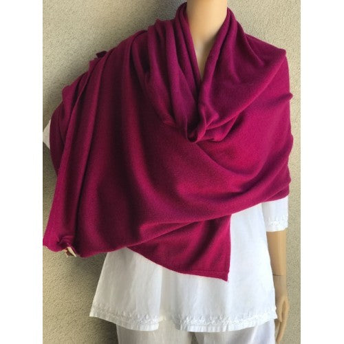 Scarves - Cashmere Travel Solid Scarf - Girl Intuitive - Dolma - Dark Purple