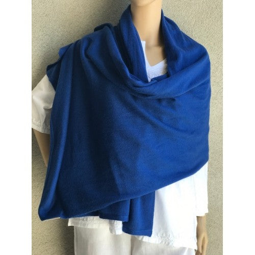 Cashmere Travel Solid Scarf blue