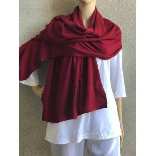 Scarves - Cashmere Travel Solid Scarf - Girl Intuitive - Dolma - Burgundy