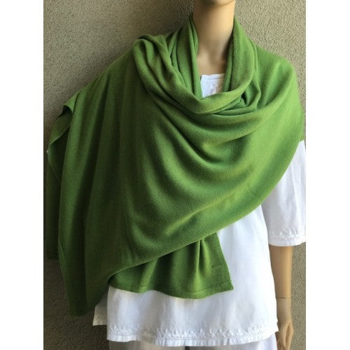 Scarves - Cashmere Travel Solid Scarf - Girl Intuitive - Dolma - Green