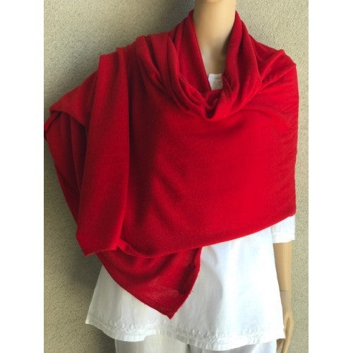Scarves - Cashmere Travel Solid Scarf - Girl Intuitive - Dolma - Red
