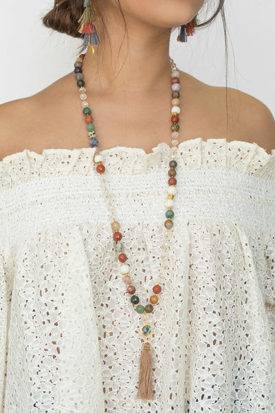 Chan Luu Multi Tassel Long Necklace