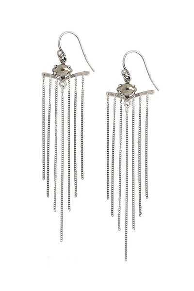 Chan Luu Pyrite Chain Earrings