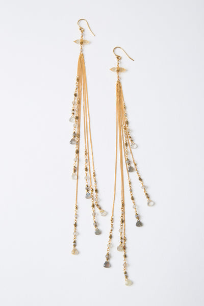 Chan Luu Rutilated Quartz Mix Chain Earrings
