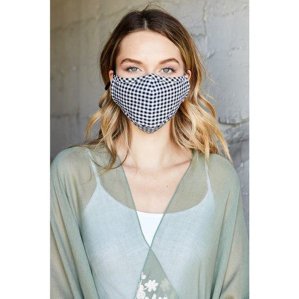 Reusable Checkered Facemask